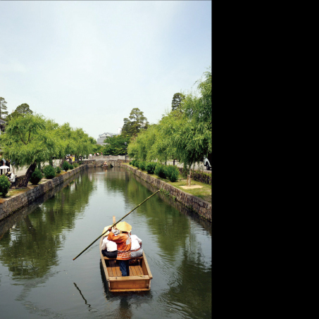 A peaceful ride along Kurashiki's central canal.
